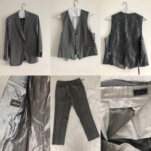BRIONI Grey Three Piece Suit